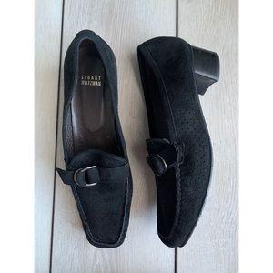 Stuart Weitzman leather heel loafers size 10